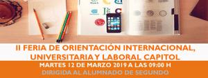 II FERIA DE ORIENTACIÓN INTERNACIONAL, UNIVERSITARIA Y LABORAL @ CAPITOL EMPRESA | València | Comunidad Valenciana | España