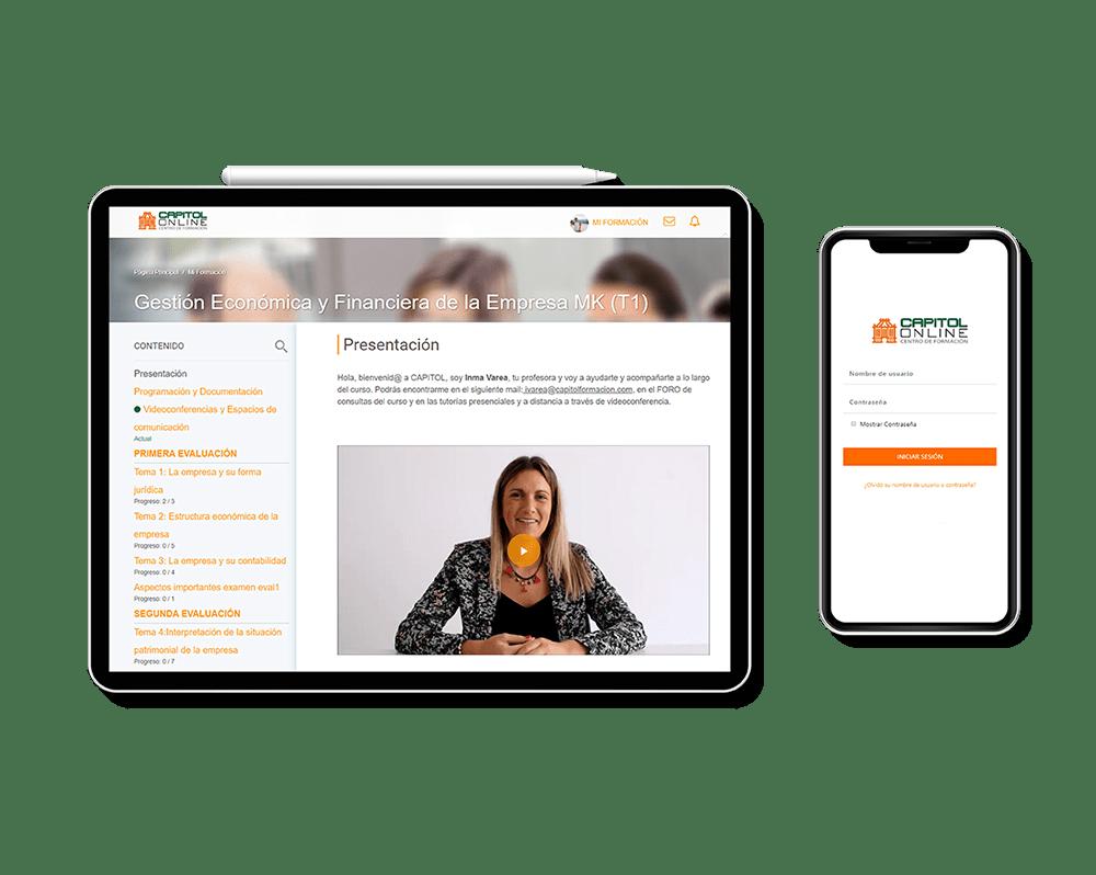 Plataforma Virtual Capitol Centro de Formación